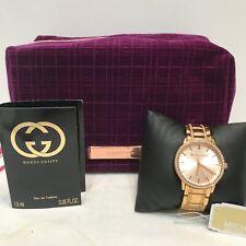 MICHAEL KORS Women's Melissa Three-Hand Rose Gold Bracelet Watch, GUCCI & Bag