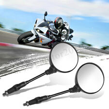 Pair Universal Round Motorcycle Folding Rearview Side Mirrors For Honda KTM US
