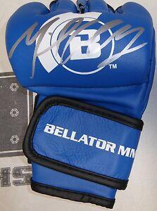 Michael Chandler Signed Official Bellator MMA Blue Fight Glove BAS COA Autograph