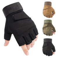 Men Tactical Half Finger Gloves Army Military Combat Patrol Work Fingerless
