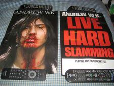 ANDREW W.K.-(live hard slamming)-1 POSTER-2 SIDED-11X17-NMINT-RARE