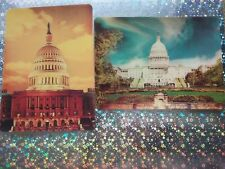 Super Xograph 3D Postcards: Greetings From Washington Dc Lot of 2 (Rare/Htf/Vtg)