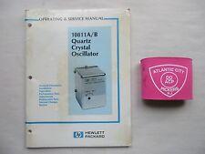 HEWLETT PACKARD 10811A/B QUARTZ CRYSTAL OSCILLATOR OPERATING & SERVICE MANUAL
