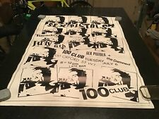 Original Poster: 1980's Sex Pistols - 100 Club - leo posters ltd, england,