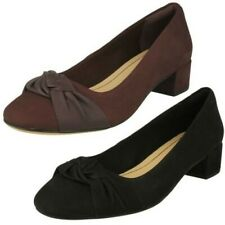 Womens Clarks Bow Detailed Block Heel Shoes Orabella Lily