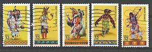 Scott #3072-76 Used Set of 5, American Indian Dances