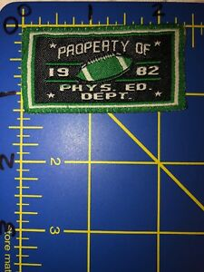 Property of Phys. Ed. Dept 1982 Football Patch Tag Physical Education Department