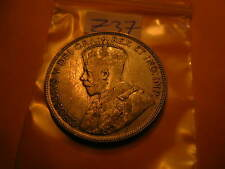 CANADA KEYDATE1934 50 CENT COIN VERY LOW MINTAGE 39539 ONLY  ID#Z37