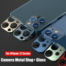 For iPhone 12 Mini Pro Max 2in1 Metal Camera Lens Protect Cover + Tempered Glass