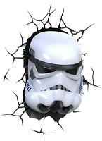 Disney STAR WARS Stormtrooper Helmet 3D Deco Light Free Wall Sticker NEW