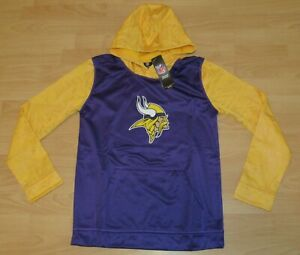 Minnesota Vikings NFL Team Performance Tech Hoodie Jacket Size Youth Large
