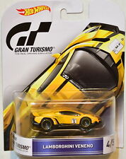 HOT WHEELS RETRO ENTERTAINMENT 2016 LAMBORGHINI VENENO YELLOW GRAN TURISMO