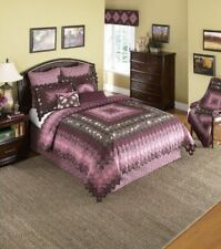 Donna Sharp Mauvelous Trip Around the World Cotton Deluxe King Quilt MSRP $490