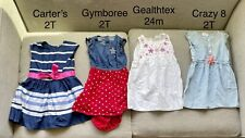 Toddler Girl Dress (qt 4) 2T & 24 month Gymboree - Carters - Crazy8 and other