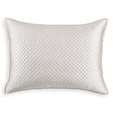 Hudson Park Collection Cotton & Silk Diamond Embroidered Pillow Sham King Ivory