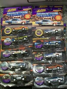 Johnny LIghtning Dragsters Lot of 10 Hawaiian ChiTown LAPD Blue Max Funny Car
