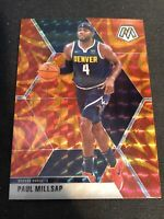 2019-20 Mosaic Basketball Orange Reactive Paul Millsap Denver Nuggets