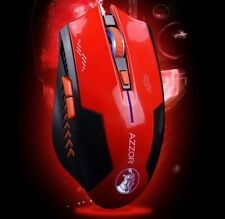 Gaming Mouse Wireless 2400DPI Optical Laser 2.4Ghz (Red) (Brand New)