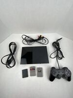 PlayStation 2 Console Black- SCPH-90001 Bundle w/ Dual Shock Controller - TESTED