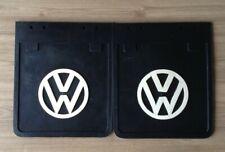 VW Bus Samba Bay Window Camper Accessories Black Mud Flaps X2  . #444