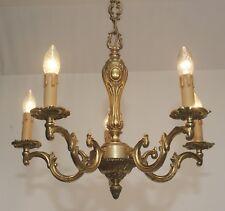 Style Antique Ø54cm Lustre Luminaire de Plafond 5fl. Laiton Led Lumière Akanthus