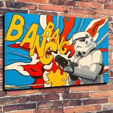 """Stormtrooper Pop Art Printed Canvas Picture A1.30""""x20"""" Deep 30mm Frame Star Wars"""