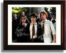 Framed Harry Potter Cast Autograph Promo Print - Harry Potter