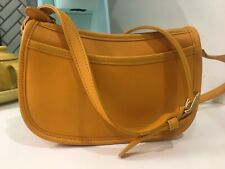 VINTAGE Coach Wendie Crossbody Bag in Rare Yellow. NWOT! Happy Summer Color!