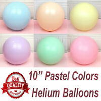 "100Pcs 10"" 10"" Macaron Candy Pastel Latex Balloon Wedding Party Decor Birthday"