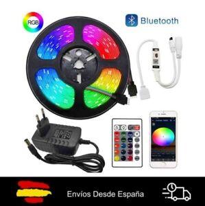 Tira Luces LED 5m RGB 5050 Cinta De Luz Led Multicolor 12V Controlador Bluetooth