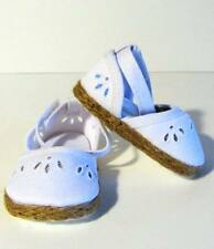 """WHITE CANVAS Espadrille SHOES SANDALS Fits 18"""" American Girl Doll, 18 Inch Dolls"""