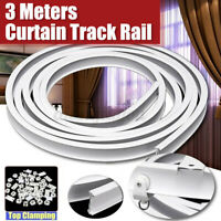 Coiled Curtain Track in White for Bay & Straight Windows 3M Bendable Rail Set