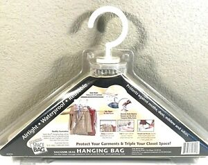 Original Space Bag Large Hanging Vacuum Compress & Hold Up to 10 Garments New