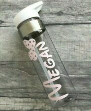 PERSONALISED DISNEY WATER BOTTLE, Minnie Mouse Name Bow Keepsake Gift Gym Bottle