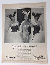Original Print Ad 1954 WARNER'S Merry Widows Bras Girdles