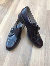CLARKS NARRATIVE Buckle Brogues Oxblood Red Leather Flat Shoes UK 6D