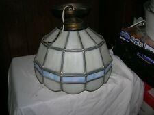 VINTAGE TIFFANY STYLE  CEILING LAMP STAINED GLASS LIGHT