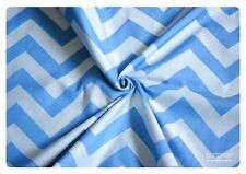 Natibaby Blue and White Chevron Woven Wrap - Size 6 (4.6m)