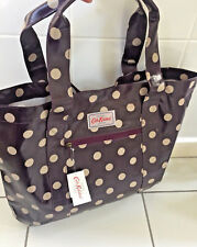 Cath Kidston Large Open Carry All Bag BNWT Button Spot Plum