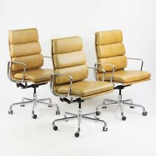 Eames Herman Miller High Soft Pad Aluminum Executive Desk Chairs 3x Avail Tan