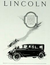 1926 Lincoln Motor Car Print Ad - New Inside Drive Limousine - Feb 1926