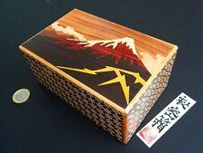 [Genuine] Japanese Puzzle Box - 5 Sun 21 Step - Kaminari Fuji Thunder Hokusai