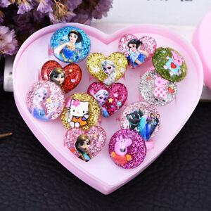 5/7/1 Pcs Children/Kids Mixed Lots Cartoon Plastic Rings Jewelry Gifts Girl's