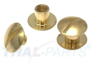 10er Pack Buchschrauben Chicagoschrauben 5mm Kopf 10mm Gold