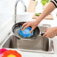 Éponge à récurer fleur lavette Cuisine Lavage Serviette De Nettoyage Dish RagQ9F