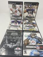 PS2 Playstation 2 Madden NFL NCAA Game Lot all w/Manuals 6 games free ship!