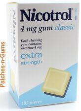 Nicotrol 4mg Classic. 1 Box of 105 pieces Nicotine Quit Smoking Gum