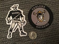 (2) Oakland Raiders Vintage Iron on Embroidered Patches patch Lot 4