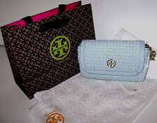 Tory Burch Bryant Quilted Small Leather Crossbody Bag in Iceberg NWT