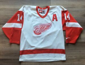 2001-02 DETROIT RED WINGS TEAM SIGNED AUTOGRAPHED JERSEY SHANAHAN BRETT HULL x11
